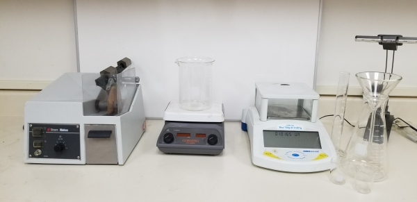 Some of the items used within ASB labs