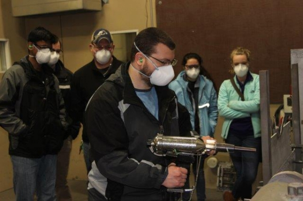 University of Akron Students Visit ASB Industries